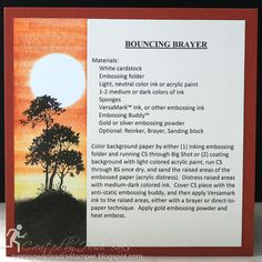 Technique Tuesday: Bouncing Brayer by #runningwscissorsstamper, Stampin' Up Serene Silhouettes