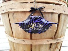 Baltimore Ravens Inspired Crab Shell Ornament Baltimore Wedding Groomsmen Gift Bridesmaids Gift Graduation Gift Valentines Day Man Cave