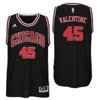 2016 Draft Bulls #45 Denzel Valentine Alternate Black Swingman J