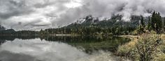 The Hintersee (Lake Hintersee) nearby Ramsau (Bavaria)