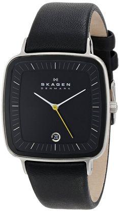 Amazon.com: Skagen Men's H04LSLB Hiro Quartz 3 Hand Date Stainless Steel Black Watch: Skagen: Watches