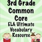 Vocabulary is essential! This 200+ page printable packet will help your students master the ELA vocabulary from the Common Core Standards. It includes a ELA vocabulary word wall, flash cards, and vocabulary flip books! Available for 3rd, 4th, and 5th grades! $