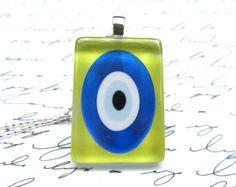 Nazar (wards off the evil eye) necklace, $10 on Etsy