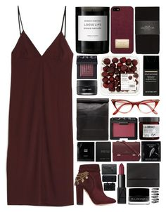 """""""burgundy"""" by jessievv ❤ liked on Polyvore featuring T By Alexander Wang, Byredo, Michael Kors, Zara, NARS Cosmetics, Koh Gen Do, Givenchy, Stampd, L:A Bruket and Aquazzura"""