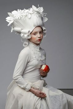 Baroque Paper Wigs by Asya Kozina   Faith is Torment   Art and Design Blog