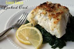 This baked cod recipe is easy enough for any beginner cook but tasty enough that even you seasoned cooks will love to serve it. Cod Fillet Recipes, Baked Cod Recipes, Fish Recipes, Seafood Recipes, New Recipes, Dinner Recipes, Cooking Recipes, Favorite Recipes, Healthy Recipes