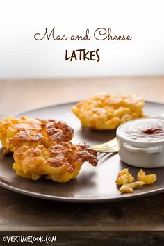 Mac and Cheese Latkes are crispy and golden on the outside, soft and cheesy on the inside, and perfection in every bite!