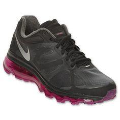 Nike Air Max+ 2012 Women's Running Shoes| FinishLine.com | Black/Metallic Cool Grey