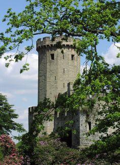 The grounds of Warwick Castle.  Warwick, England.
