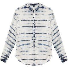 RAQUEL ALLEGRA Tie Dye Silk Blouse