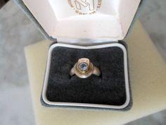 SORTIJA PLATA DE LEY 925 Y PLATA DORADA CON TOPACIO AZUL in Relojes y joyas, Vintage y joyería antigua | eBay