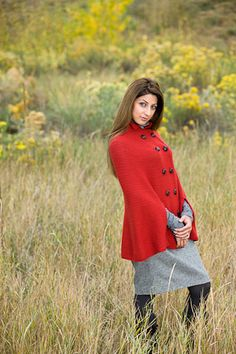 This crochet cape is pretty stylish! Crimson Cape - Media - Crochet Me