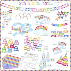 Rainbow Birthday, Unicorn Birthday, 5th Birthday, Kids Party Themes, Birthday Party Decorations, Happy Birthday Parties, Star Decorations, Party Kit, Rainbow Unicorn