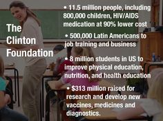 No wonder republicans hate the Clinton Foundation, it's helping people.  Remember.