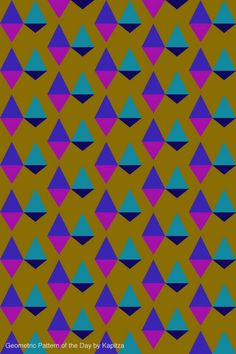 Geometric pattern of the day by Kapitza