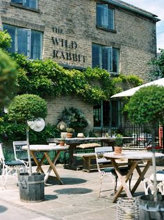 The Wild Rabbit, perfect Cotswolds Sunday lunch Pub Design, Wild Rabbit, British Pub, Pubs And Restaurants, Daylesford, Pub Bar, Close To Home, Outdoor Furniture Sets, Outdoor Decor