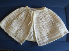 Crochet easter items | Items similar to Girl's White Crochet Cape Easter, First Communion on ...
