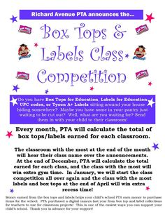 Extra Gym time to promote Box Tops! Great idea. Box Tops for Education.