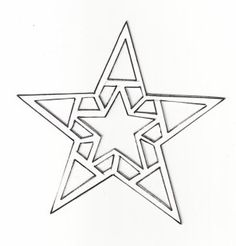 moldes de Navidad | Moldes de Navidad Christmas Ornament Template, Christmas Templates, Holiday Ornaments, Holiday Crafts, Pop Bottle Crafts, Star Tattoo Designs, Christmas Stencils, Stars Craft, Faux Stained Glass