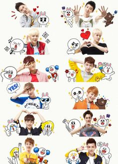 Image discovered by Find images and videos about cute, kpop and exo on We Heart It - the app to get lost in what you love. Chanyeol Baekhyun, Park Chanyeol, 2ne1, Got7, Exo Stickers, Printable Stickers, Exo Facts, Exo 12, Exo Group