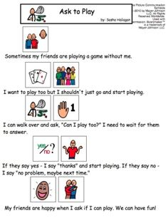 Ask to Play - Visual Story for kids with autism by joffen