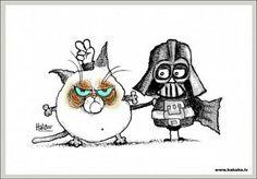 Grumpy Cat: Worsties... #cats #humor #grumpy #StarWars #Darth #Vader