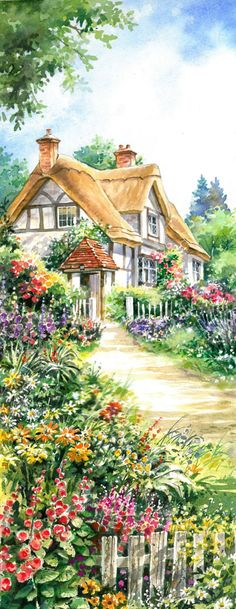 Path to Cottage - Counted cross stitch pattern in PDF format by Maxispatterns on…