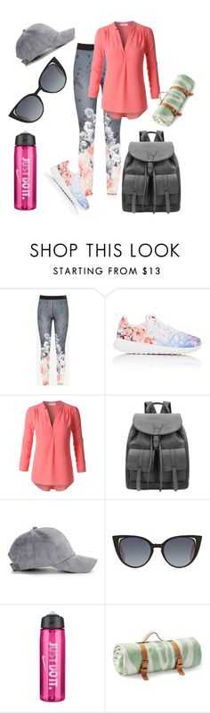 """""""Untitled #123"""" by chocolateladi on Polyvore featuring Ted Baker, NIKE, LE3NO, Fendi and Maslin & Co."""