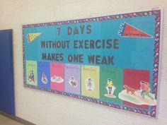 Physical Education bulletin board