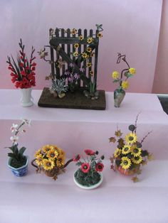 Some miniature flowers I make by Sandra Manring