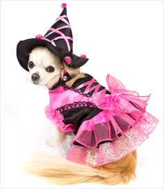 Pink Pom Pom Witch Costume. Bella would look so cute in this!!