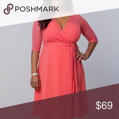 Selling this Honeycomb Wrap Dress Plus Size on Poshmark! My username is: ccurvesclothing. #shopmycloset #poshmark #fashion #shopping #style #forsale #Kiyonna #Dresses & Skirts