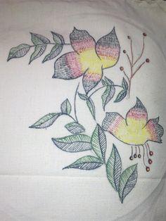 Stitch painting.