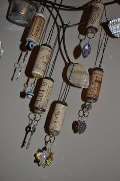 Lavender Clouds: Wine Cork Ornaments How-to