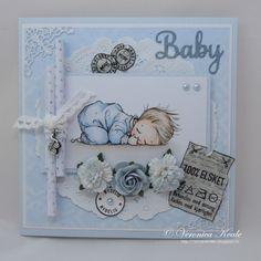 CopicMarkerNorge: Babykort til gutt i blått