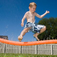 Have some fun with H2-Ohhh! Make your own water park in your back yard :D