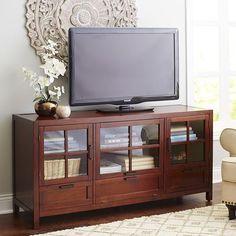Sausalito Large TV Stand - Mahogany Brown