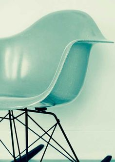 love this eames style chair   #mint #spring #trend