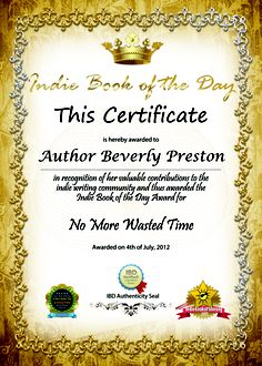 award certificate day book book 1 book series the return book indie