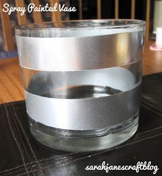 Sarah Jane's Craft Blog: Silver Striped Spray Painted Vase