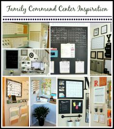 Keep your family life running smoothly with a family command center - great ideas for how to DIY #organizingideas