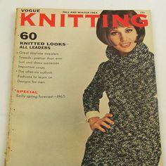 Vintage 1960s Vogue Knitting Magazine Mod Patterns Fall by Revvie1, $12.00 #60s #retro #vintage