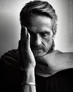 """I constantly experience failure in that my work is never as good as I want it to be. So I live with failure"" -Jeremy Irons (ph. by Brigitte Lacombe)"