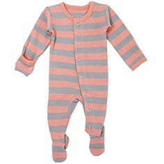 20ed5bb12 L'ovedbaby Unisex-Baby Organic Cotton Footed Overall (0-3 Months Coral