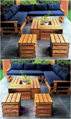 15 Wonderful DIY Pallet Furniture Outdoor That Look Awesome Pallet outdoor furniture ideas The post 15 Wonderful DIY Pallet Furniture Outdoor That Look Awesome appeared first on Lori& Decoration Lab. Pallet Garden Furniture, Outdoor Furniture Plans, Furniture Projects, Diy Furniture, Garden Pallet, Furniture From Pallets, Antique Furniture, Furniture Stores, Rustic Furniture