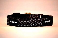 Chanel dog collar: LOVE!