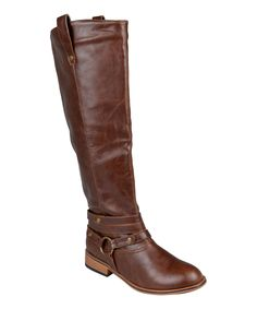 Look what I found on #zulily! Brown Walla Wide-Calf Boot by Journee Collection #zulilyfinds
