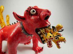 What would you do if you came face to face with a terrible monster like this? #figuradoportugues #artepopular #artesanato #cerâmicafigurativa #ceramicfigures #ceramicfiguresculpture #ceramicanimals #ceramicdesigns #craftedceramics #art #artist #arts #artclay #ceramicart #artobject #ceramics #folkloreart #folklore Ceramic Figures, Ceramic Art, Ceramic Sculpture Figurative, Ceramic Animals, Art Object, Folklore, Lion Sculpture, Pottery, Ceramics