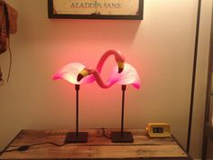 Pair of FLAMINGO lamps by JustinAnthonyLemus on Etsy, $50.00