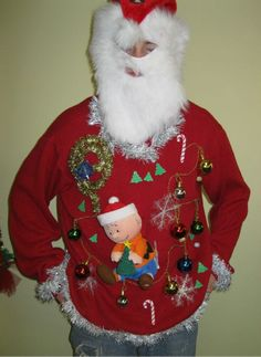 duck dynasty air freshner hillbilly redneck ugly christmas sweater singing penguin mens small womens medium to large pinterest ugliest christma - Redneck Christmas Sweaters